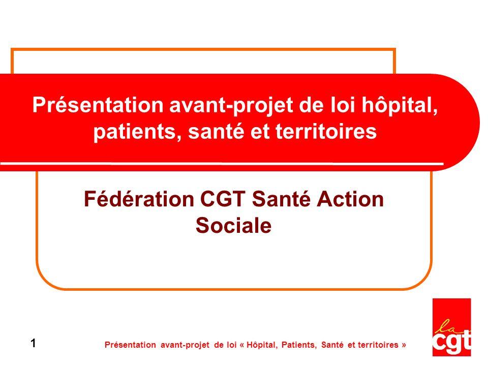 Présentation avant-projet de loi « Hôpital, Patients, Santé et territoires » 32 Article 14 - Définition de lorganisation de loffre de soins en niveaux de recours, en fonction des besoins de santé de la population.