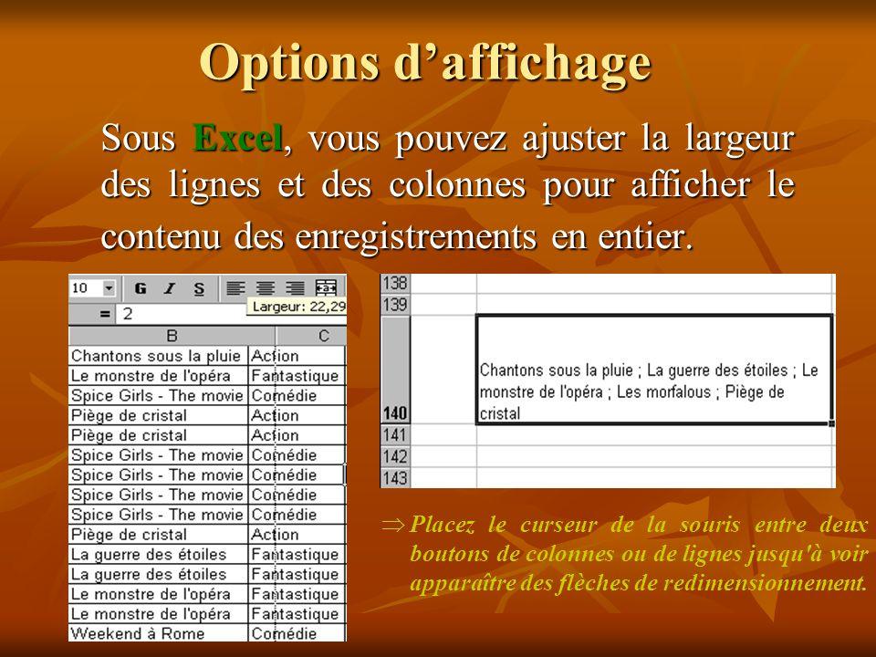 Importation de données Conversions des fichiers Importation de données Conversions des fichiers *.txt *.xls *.xls *.txt