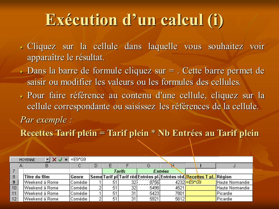 Opérateurs arithmétiques Les opérateurs indiquent le type de calcul que vous voulez effectuer sur les éléments d une formule.