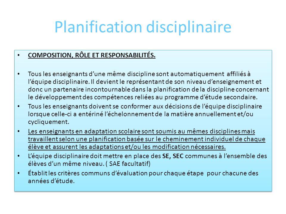 Planification de léquipe-cycle COMPOSITION, RÔLE ET RESPONSABILITÉS DEUXIÈME CYCLE, 3 e, 4 e et 5 e secondaire Troisième secondaire Léquipe denseignan