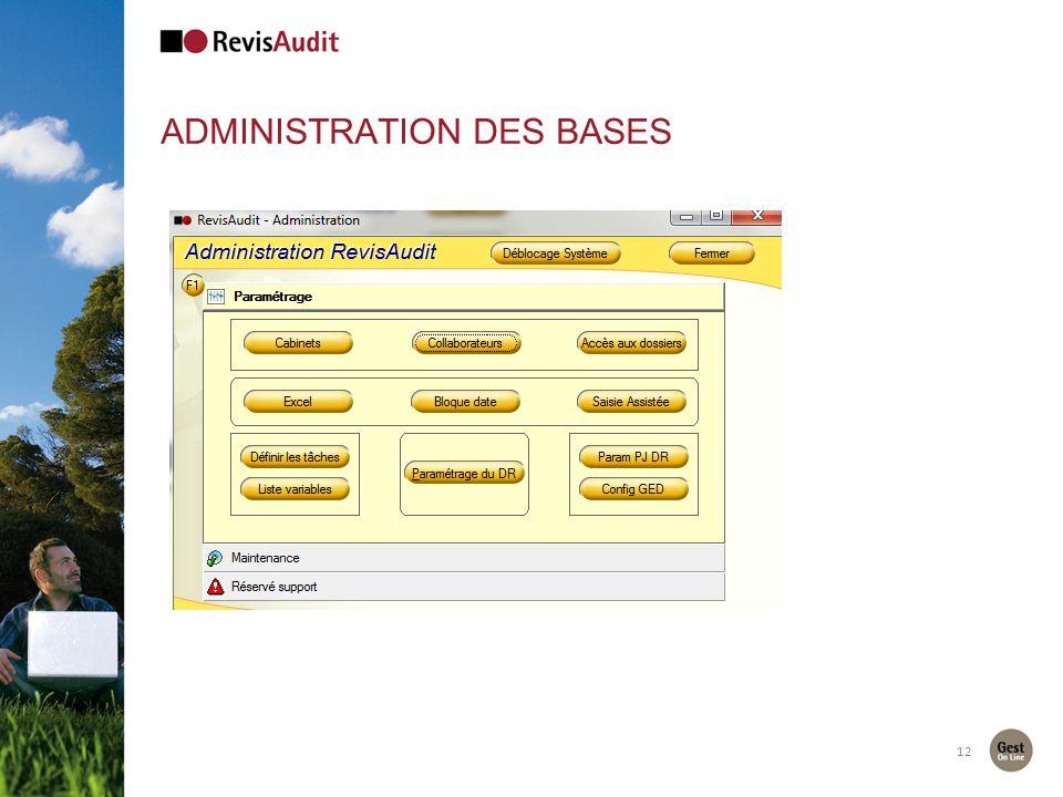 ADMINISTRATION DES BASES 12