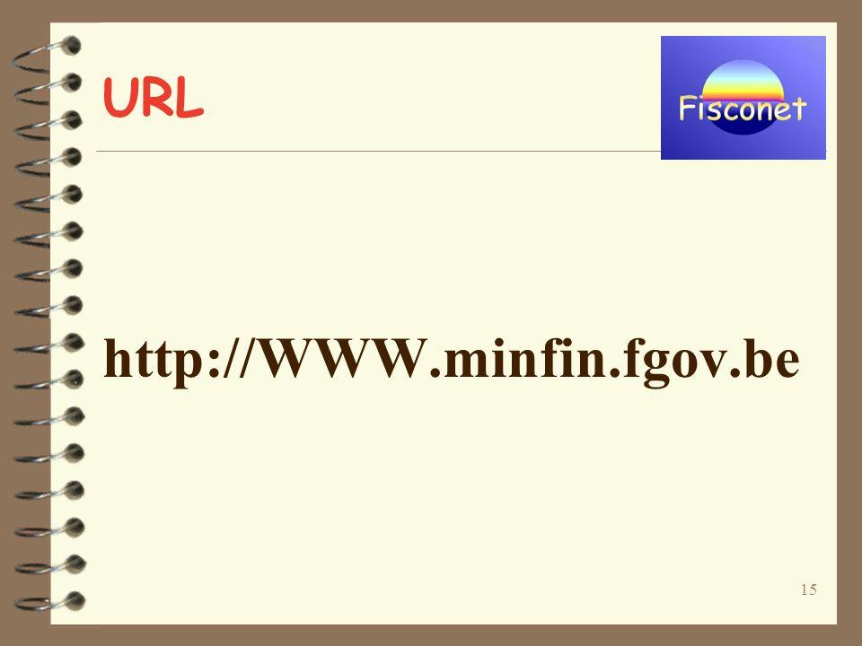 15 URL http://WWW.minfin.fgov.be