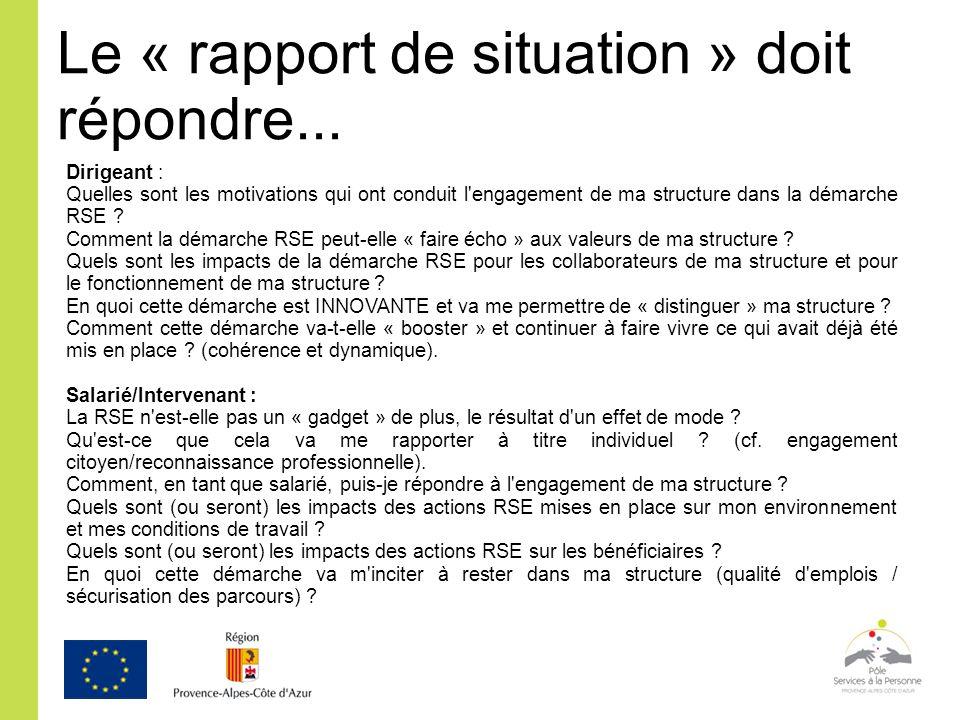 Dirigeant : Quelles sont les motivations qui ont conduit l'engagement de ma structure dans la démarche RSE ? Comment la démarche RSE peut-elle « faire