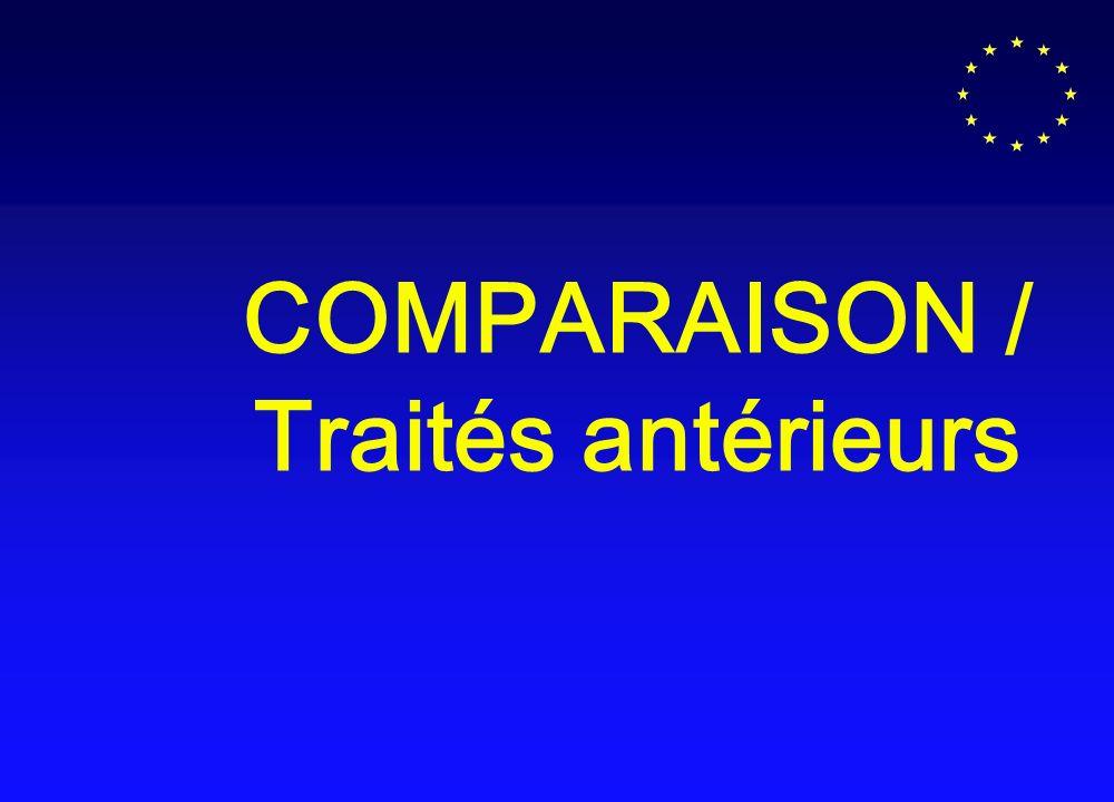 COMPARAISON / Traités antérieurs