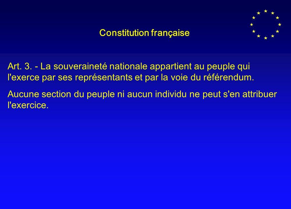 Constitution française Art.3.