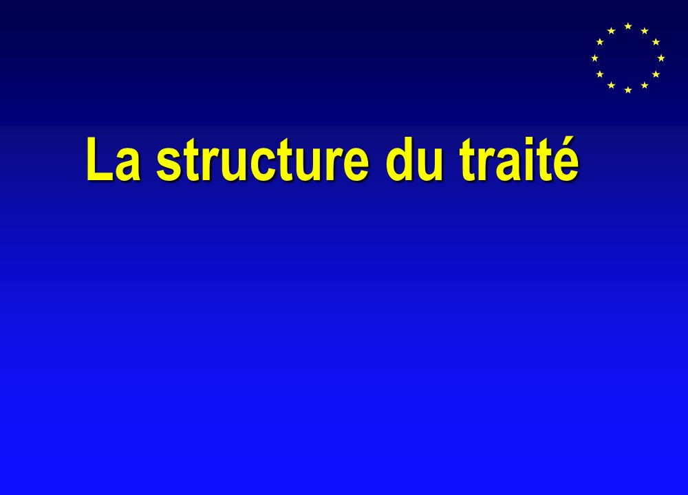 La structure du traité