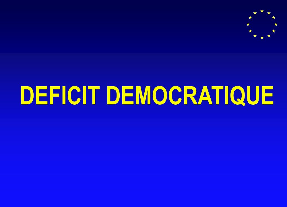 DEFICIT DEMOCRATIQUE