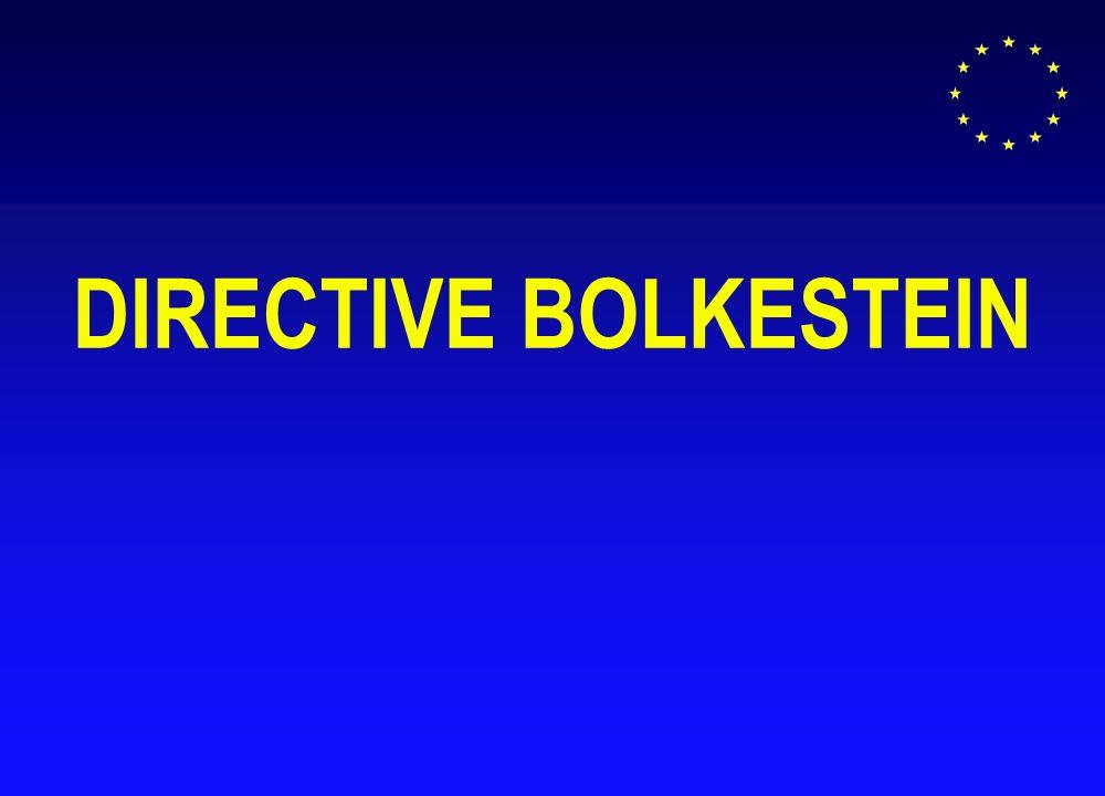 DIRECTIVE BOLKESTEIN