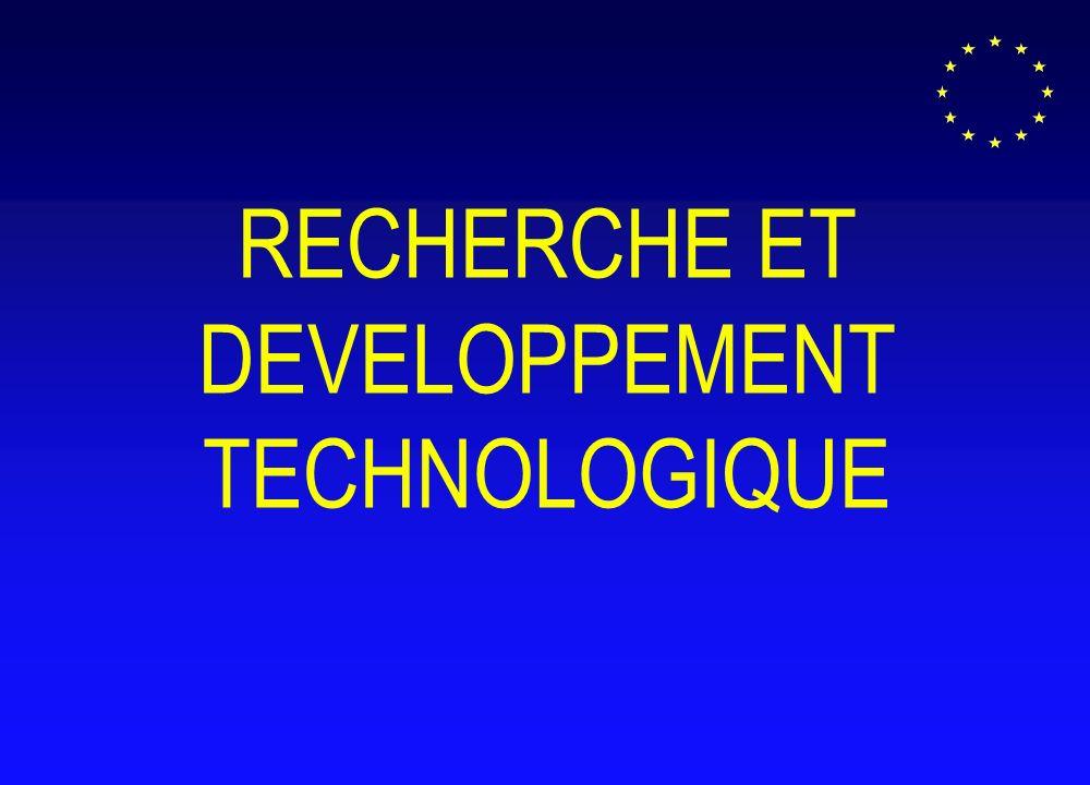 RECHERCHE ET DEVELOPPEMENT TECHNOLOGIQUE