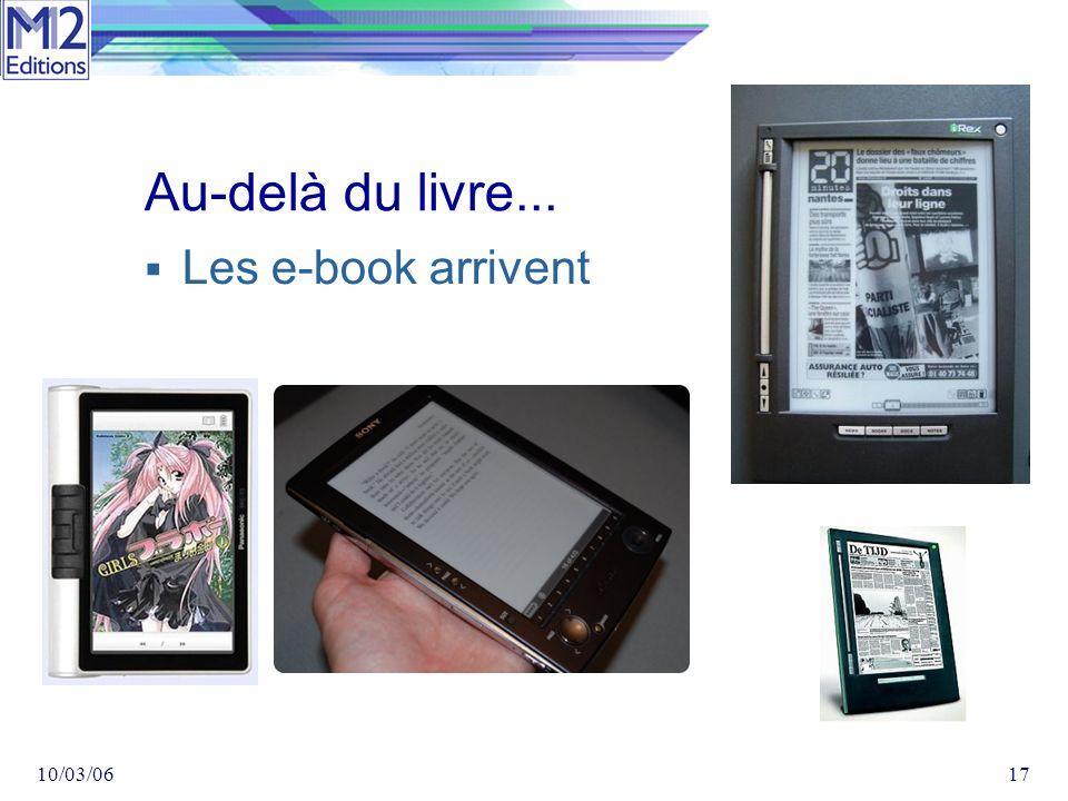 10/03/0617 Au-delà du livre... Les e-book arrivent