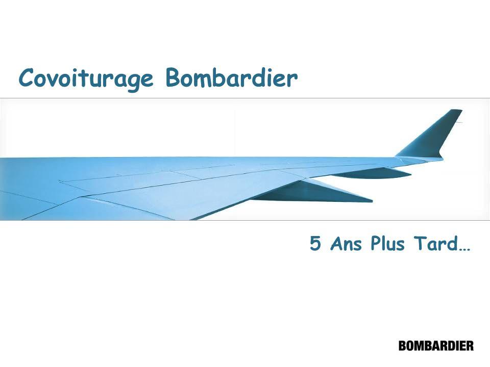 11 Août 2001 Mise sur pied du Centre de Gestion des Déplacements de Ville Saint-Laurent Naissance dun partenariat – le CGD est un atout pour Bombardier En moyenne 2 rencontres par année Kiosques dinformation dans les différentes usines