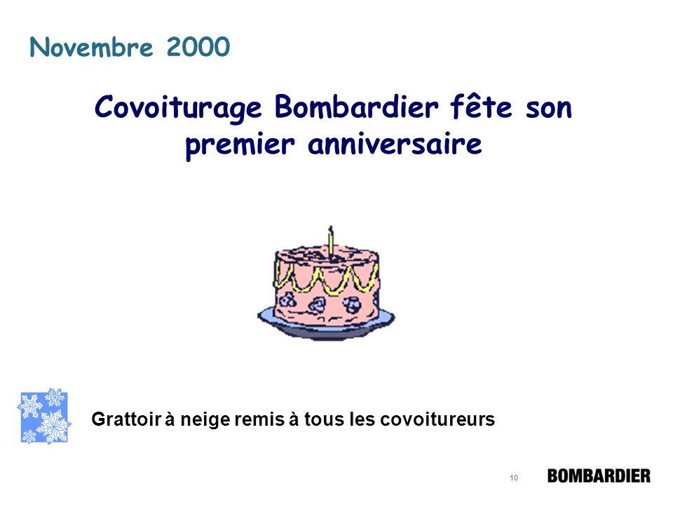 9 Un logo et une signature Papeterie identifiée aux couleurs de Covoiturage Bombardier Des cartes didentification des équipages au logo de Bombardier