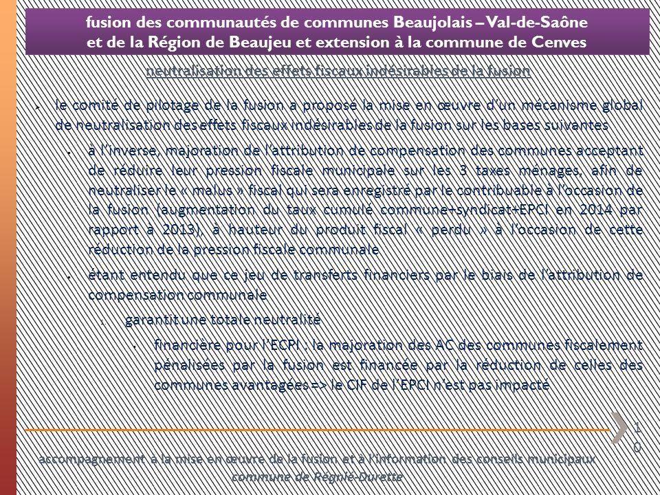 10 fusion des communautés de communes Beaujolais – Val-de-Saône et de la Région de Beaujeu et extension à la commune de Cenves le comité de pilotage d