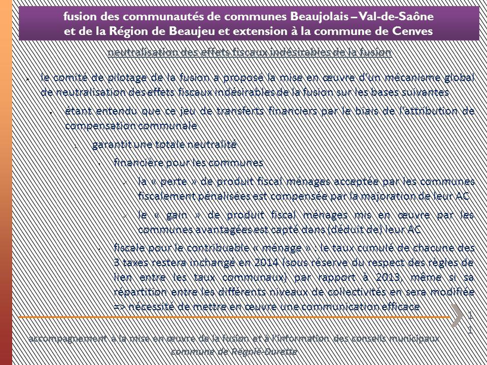 11 fusion des communautés de communes Beaujolais – Val-de-Saône et de la Région de Beaujeu et extension à la commune de Cenves le comité de pilotage d