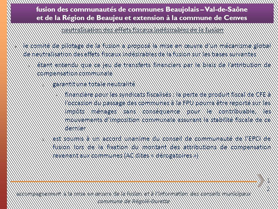 12 fusion des communautés de communes Beaujolais – Val-de-Saône et de la Région de Beaujeu et extension à la commune de Cenves le comité de pilotage d