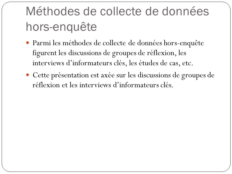 RÉFÉRENCES Debus, M.(1988). A handbook for excellence in focus group research.