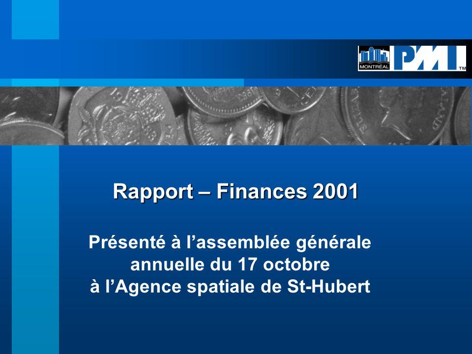 Faits Saillants Lannée 2001 a été une année décisive pour PMI- Montréal Inc.