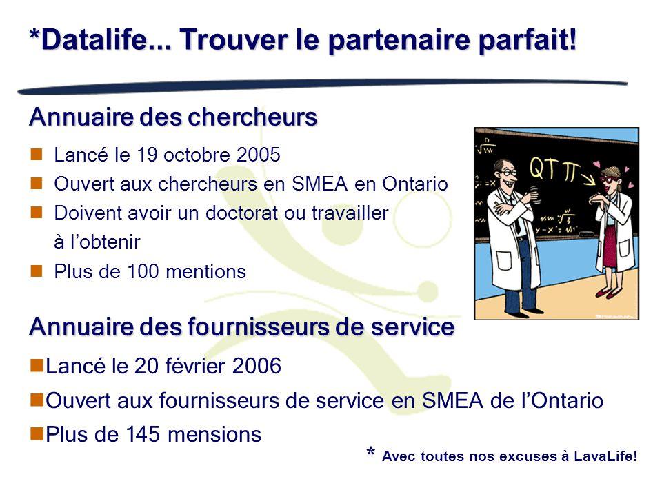 Annuaire des chercheurs Lancé le 19 octobre 2005 Ouvert aux chercheurs en SMEA en Ontario Doivent avoir un doctorat ou travailler à lobtenir Plus de 1