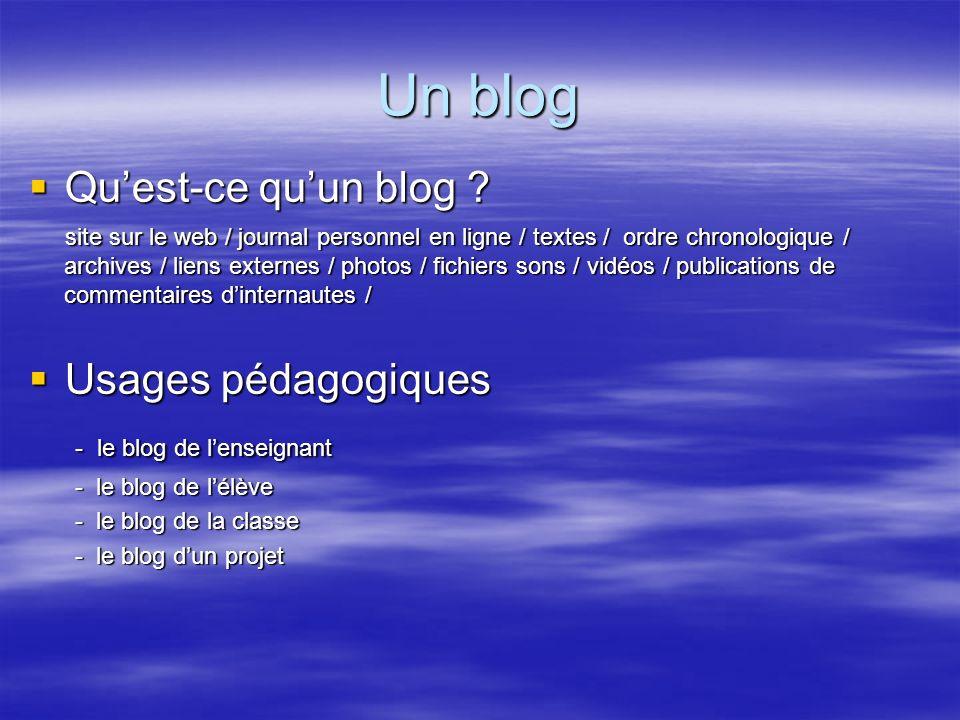 Un blog : pour qui .