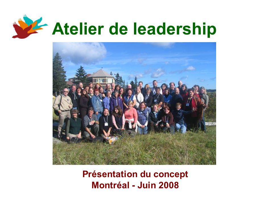 Atelier de leadership Présentation du concept Montréal - Juin 2008
