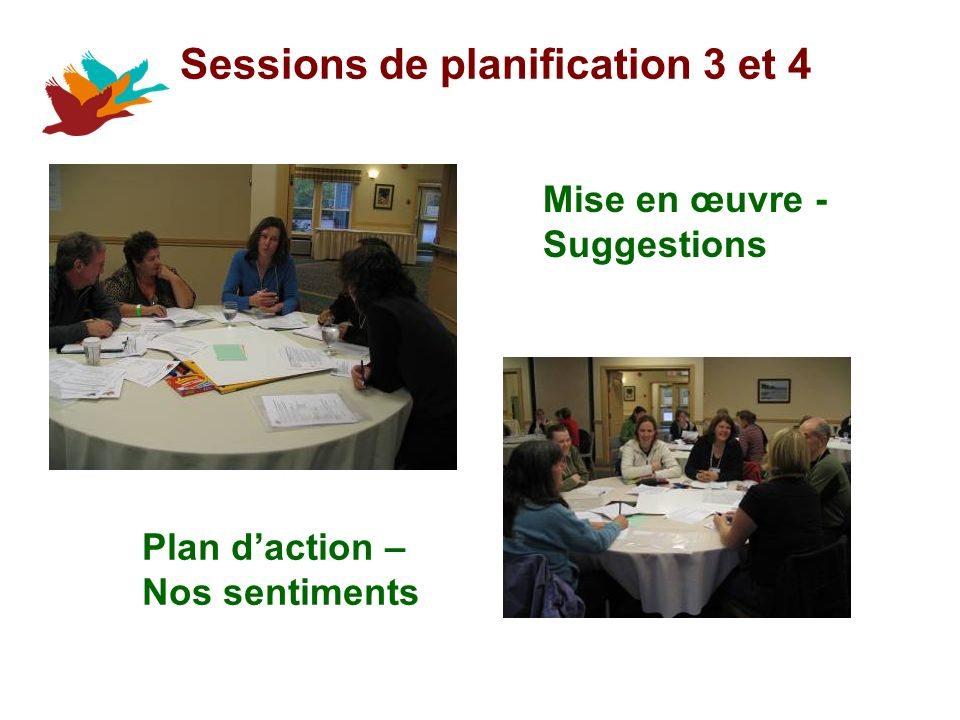 Sessions de planification 3 et 4 Mise en œuvre - Suggestions Plan daction – Nos sentiments