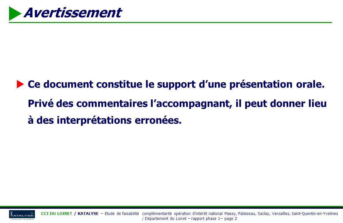 Avertissement Ce document constitue le support dune présentation orale. Privé des commentaires laccompagnant, il peut donner lieu à des interprétation