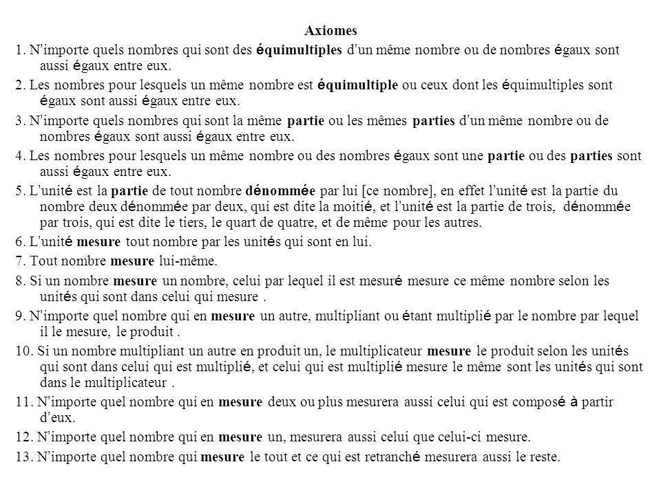 Axiomes 1.
