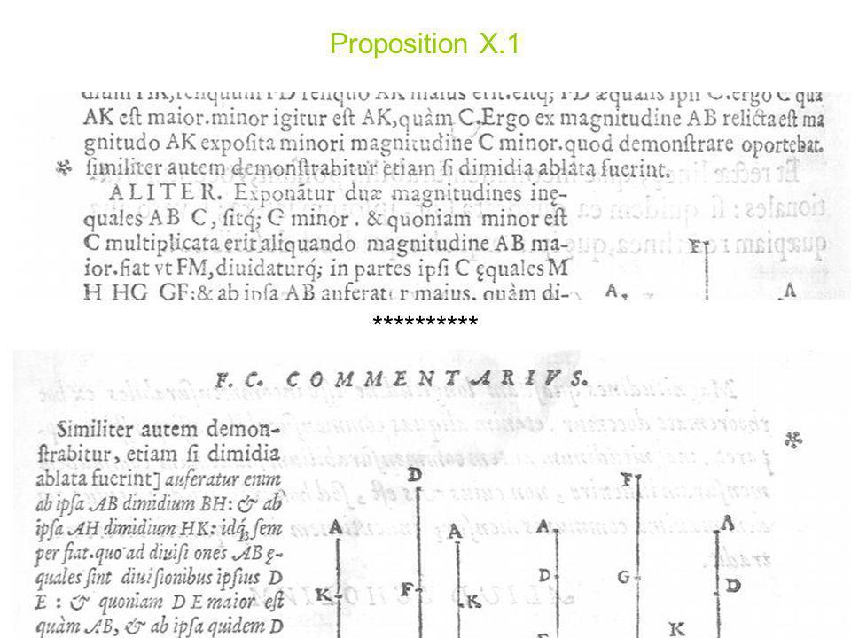 Proposition X.1 **********