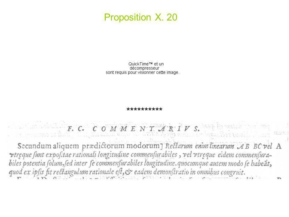 Proposition X. 20 **********