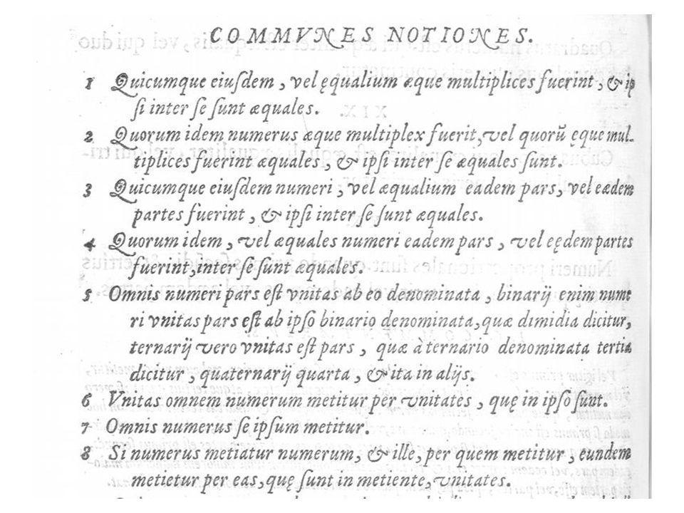Clavius, Les Eléments, livre II Deux propositions reprises à Commandino Proposition reprise à un scholie grec (pas chez Commandino)