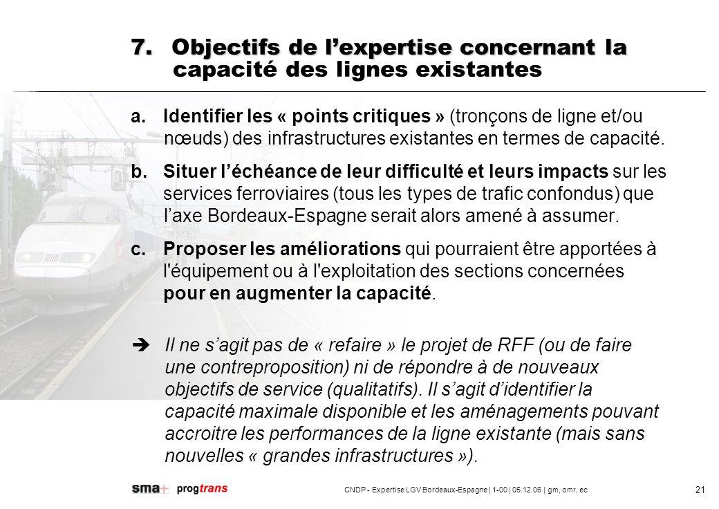 CNDP - Expertise LGV Bordeaux-Espagne | 1-00 | 05.12.06 | gm, omr, ec 22 7.