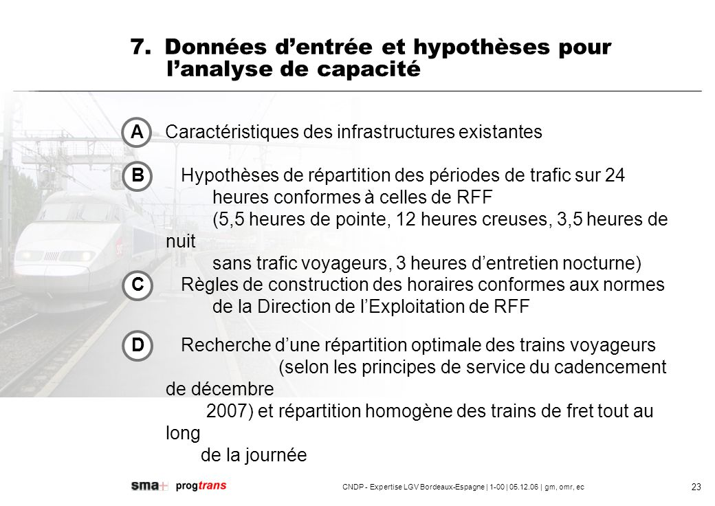 CNDP - Expertise LGV Bordeaux-Espagne | 1-00 | 05.12.06 | gm, omr, ec 24 7.