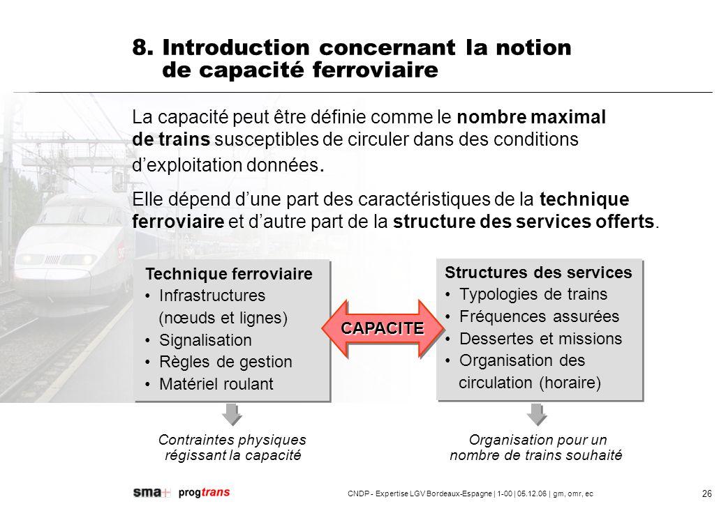 CNDP - Expertise LGV Bordeaux-Espagne | 1-00 | 05.12.06 | gm, omr, ec 27 Capacité des nœuds : Combien de voies à quai et nombre de trains pouvant être accueillis.
