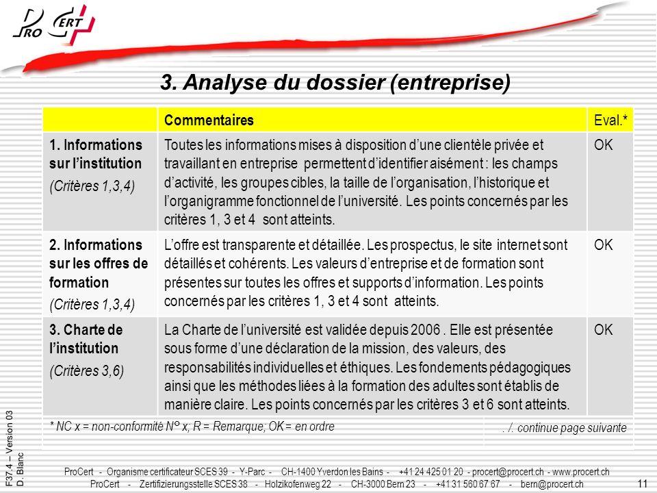 11 ProCert - Organisme certificateur SCES 39 - Y-Parc - CH-1400 Yverdon les Bains - +41 24 425 01 20 - procert@procert.ch - www.procert.ch ProCert - Z