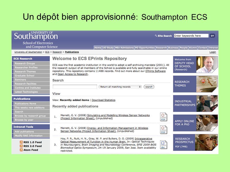 Un dépôt bien approvisionné : Southampton ECS