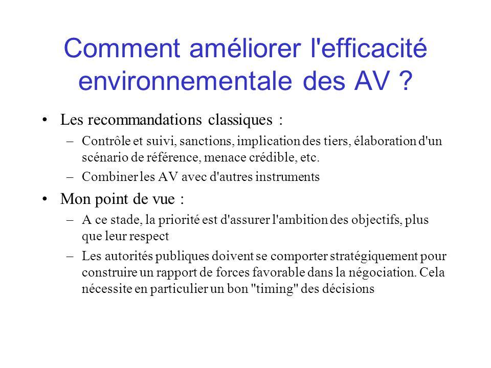 Comment améliorer l efficacité environnementale des AV .