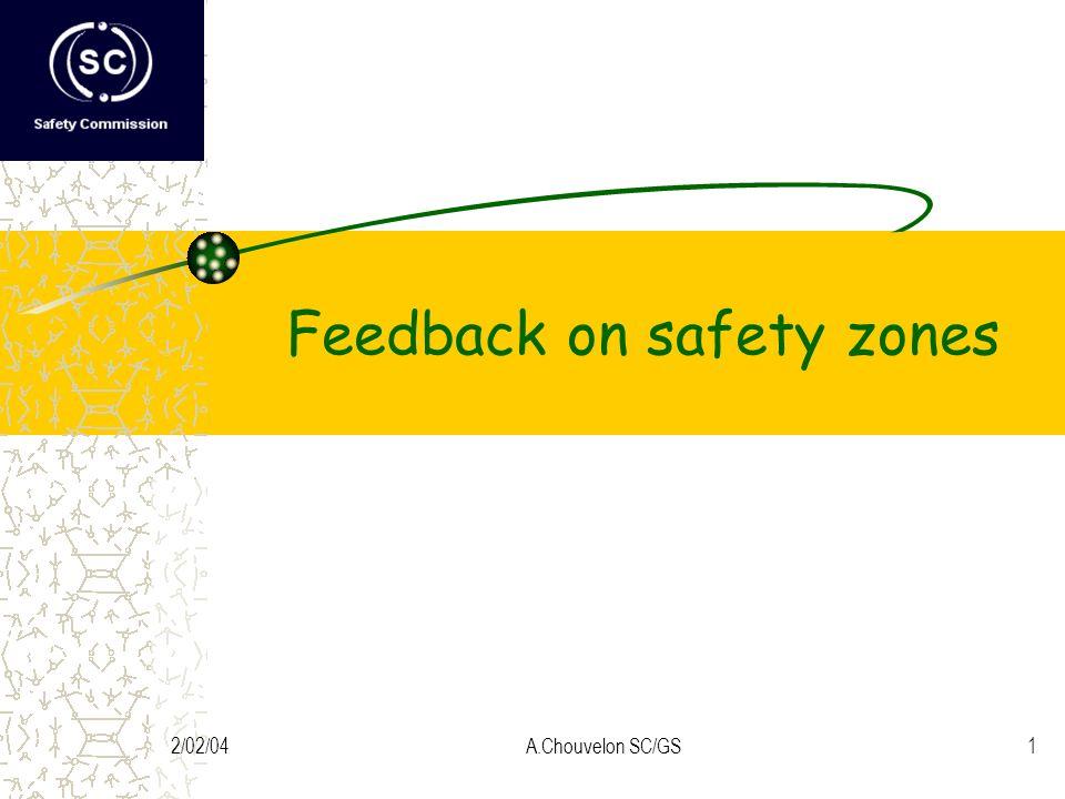 2/02/04A.Chouvelon SC/GS1 Feedback on safety zones