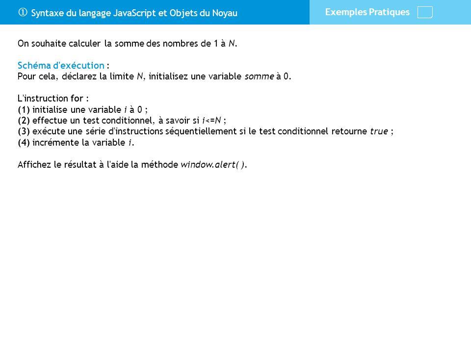 Syntaxe if Si le test conditionnel est vérifié, alors ces instructions sont exécutées.