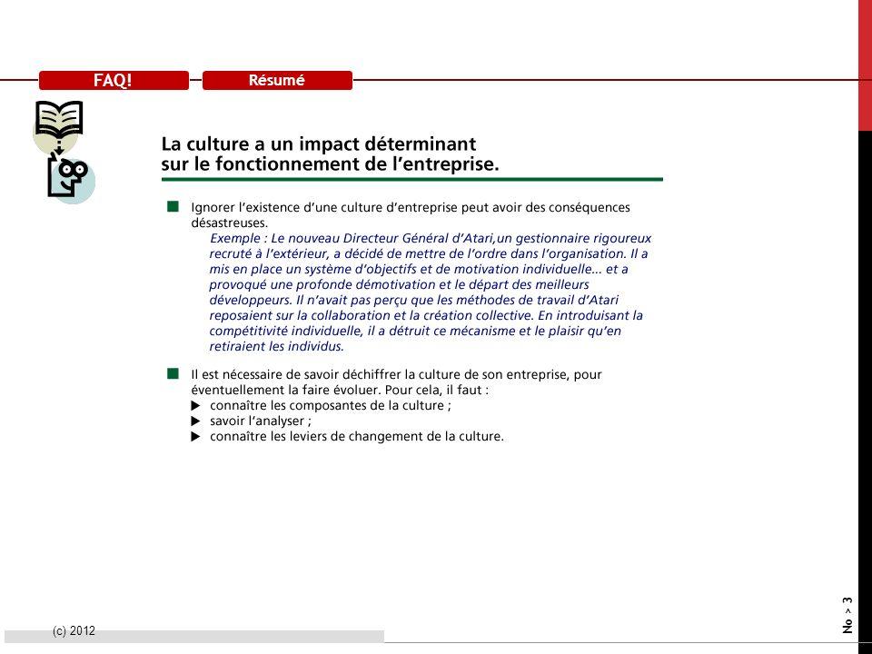 FAQ! Résumé (c) 2012 No > 3