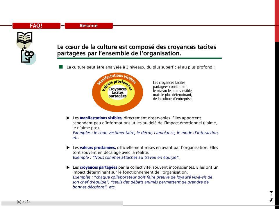 FAQ! Résumé (c) 2012 No > 4