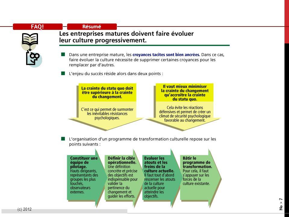 FAQ! Résumé (c) 2012 No > 7