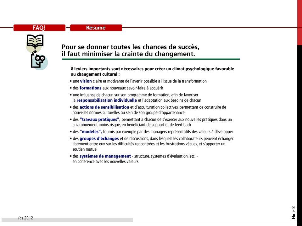 FAQ! Résumé (c) 2012 No > 8