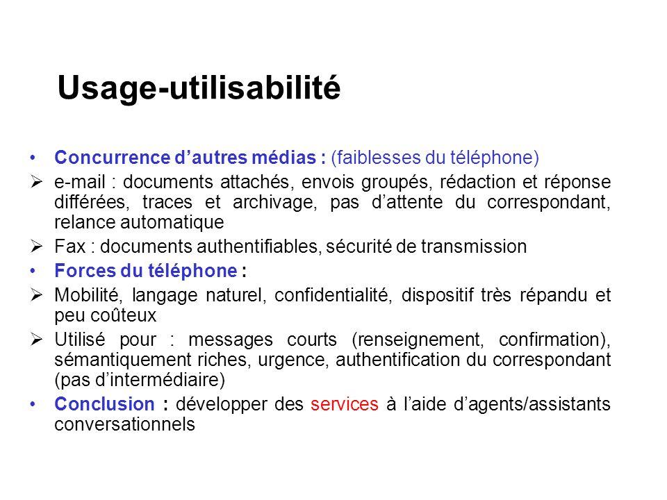 Concurrence dautres médias : (faiblesses du téléphone) e-mail : documents attachés, envois groupés, rédaction et réponse différées, traces et archivag