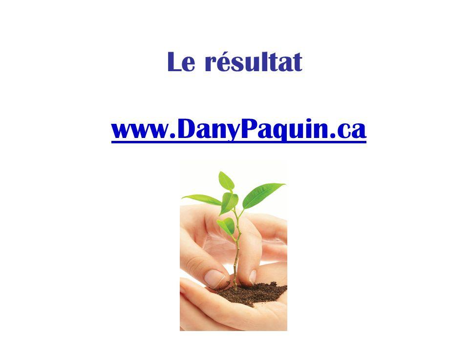 Le résultat www.DanyPaquin.ca