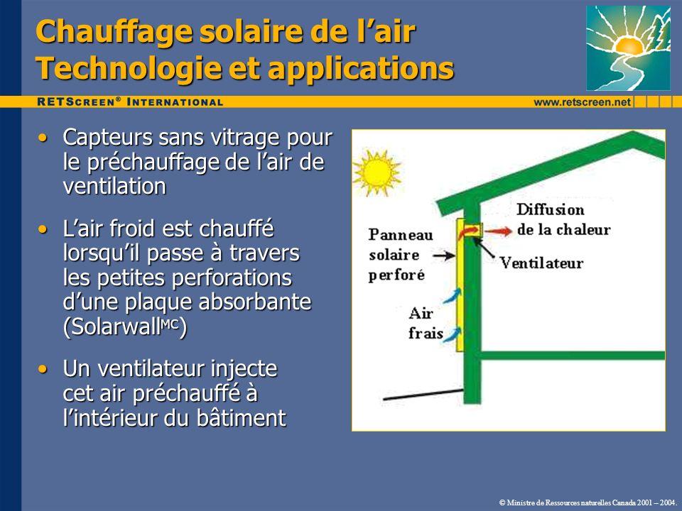 Chauffage solaire de lair Technologie et applications Capteurs sans vitrage pour le préchauffage de lair de ventilationCapteurs sans vitrage pour le p