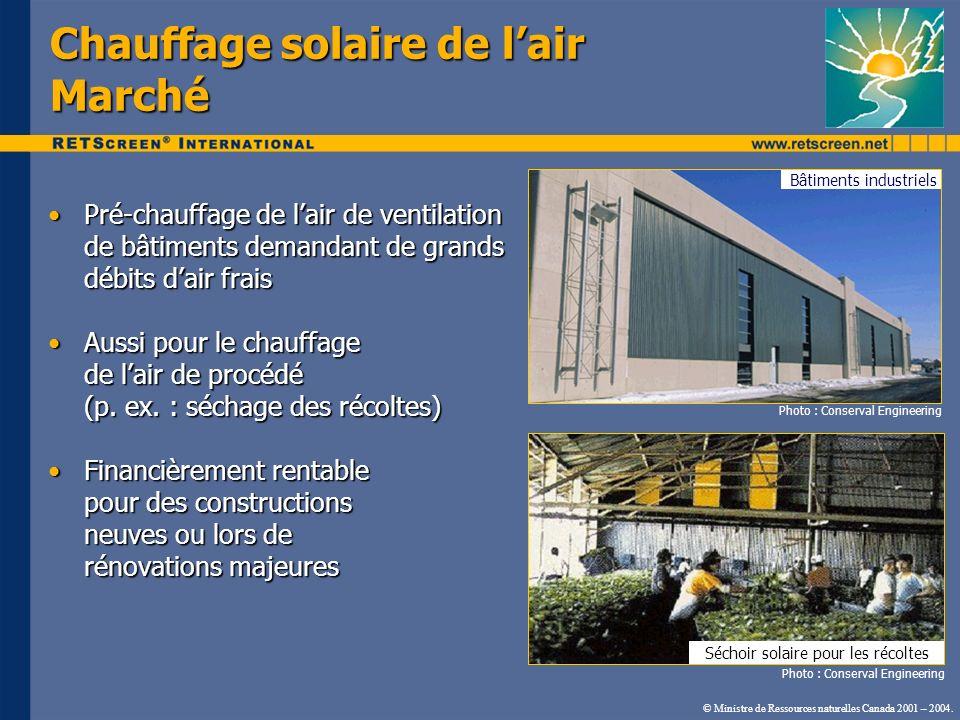 Pré-chauffage de lair de ventilation de bâtiments demandant de grands débits dair fraisPré-chauffage de lair de ventilation de bâtiments demandant de