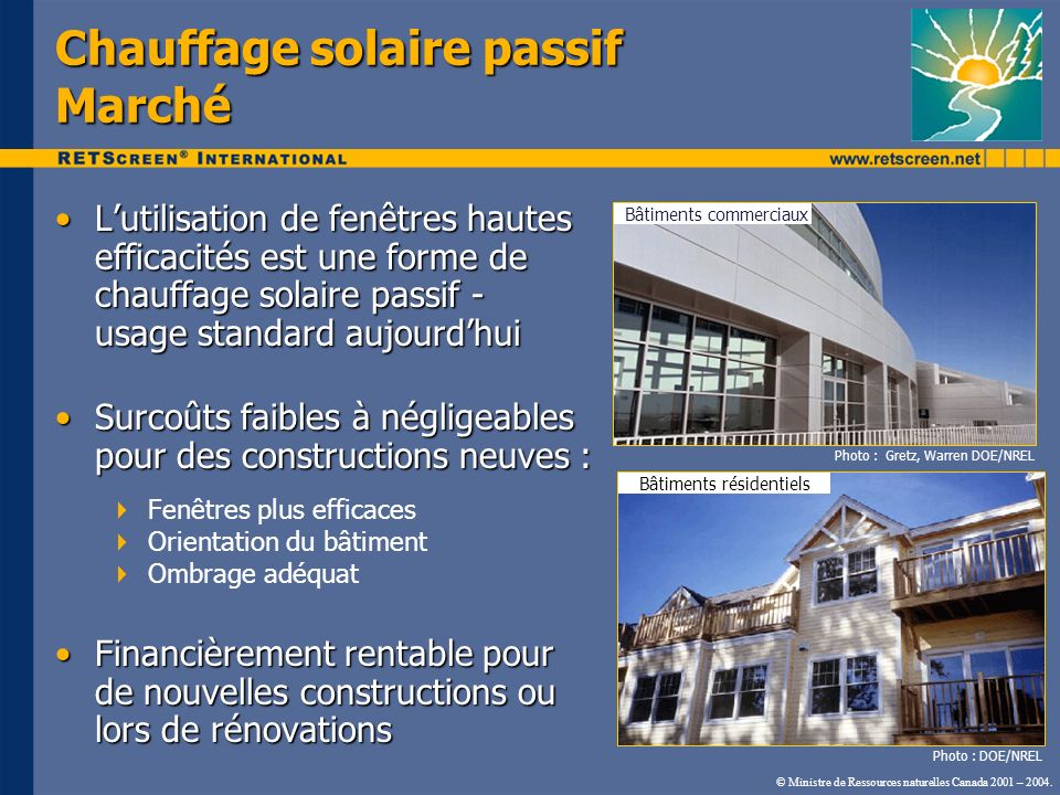 Chauffage solaire passif Marché Lutilisation de fenêtres hautes efficacités est une forme de chauffage solaire passif - usage standard aujourdhuiLutil