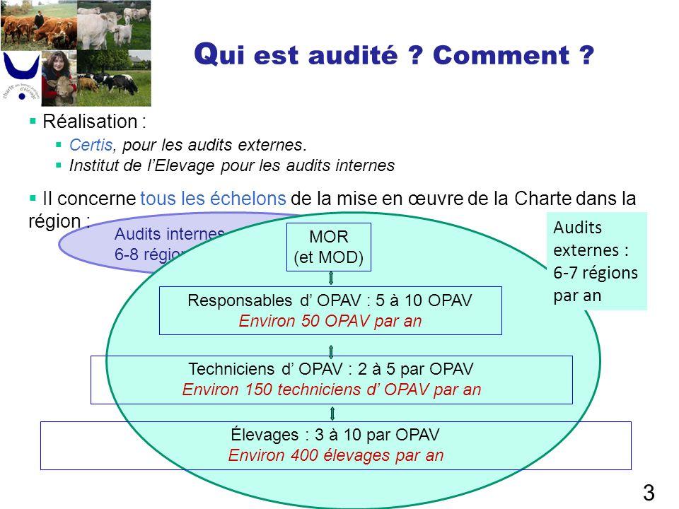 Novembre 2010 Audits internes : 6-8 régions par an Audits externes : 6-7 régions par an 3 Q ui est audité .