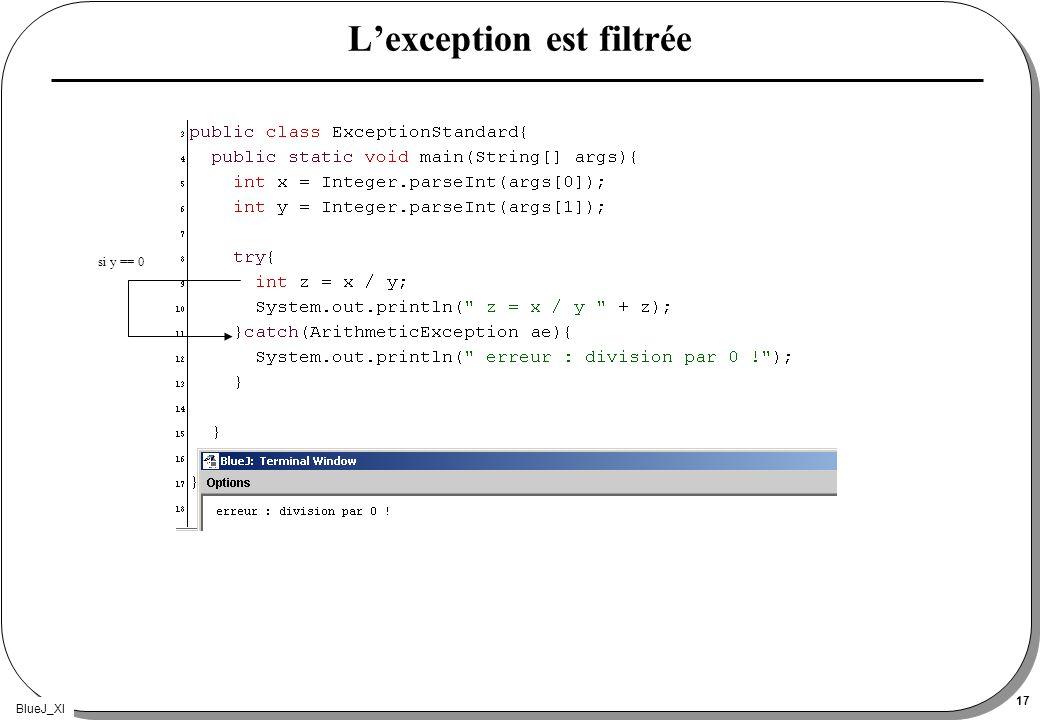 BlueJ_XI 17 Lexception est filtrée si y == 0