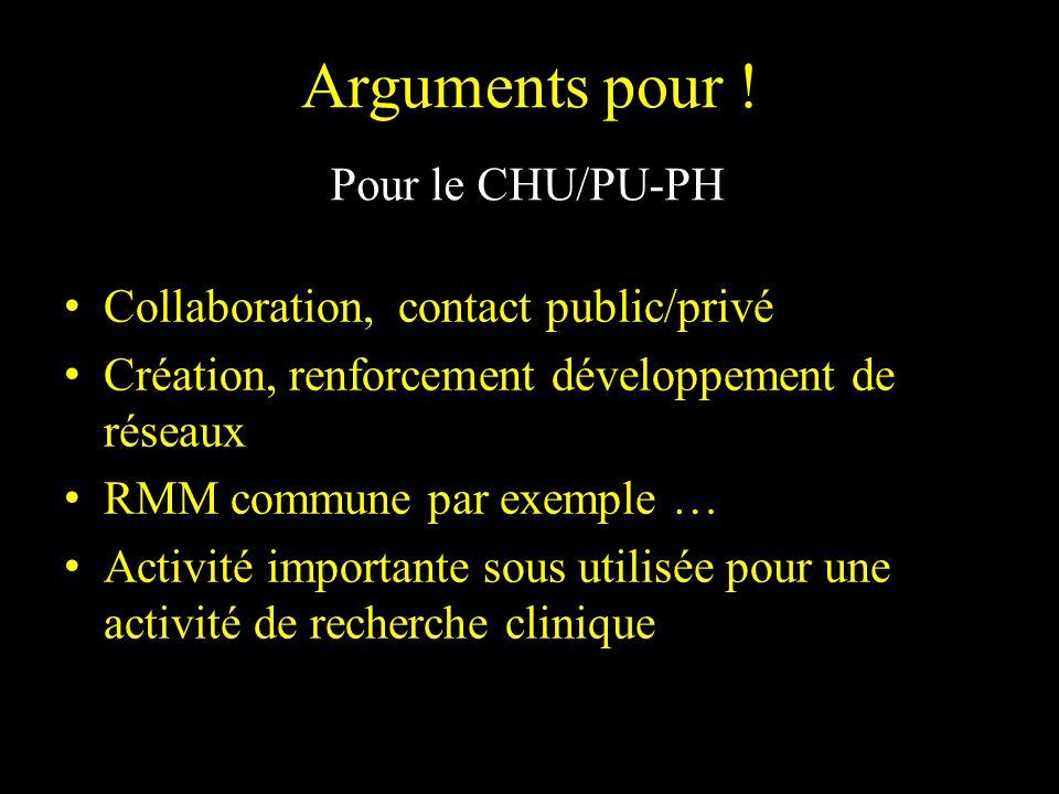 Collaboration, contact public/privé Création, renforcement développement de réseaux RMM commune par exemple … Activité importante sous utilisée pour u